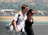 Angelina Jolie and Brad Pitt - Leaving L.A , On Airport Runway