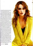 Keira Knightley in Elle Magazine